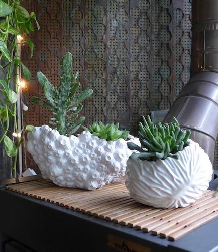 maceta de cerámica esmaltada -tienda puro diseño