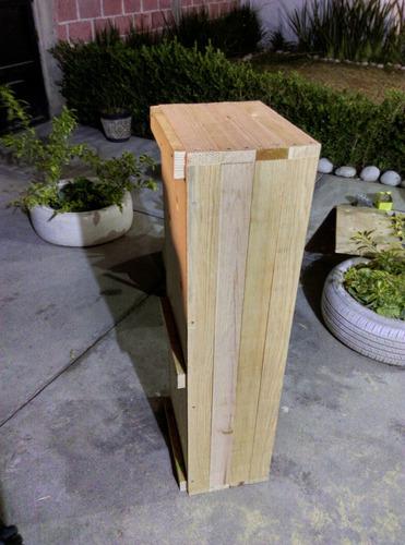 maceta de madera 104cm x 34cm x 26 cm acabado natural