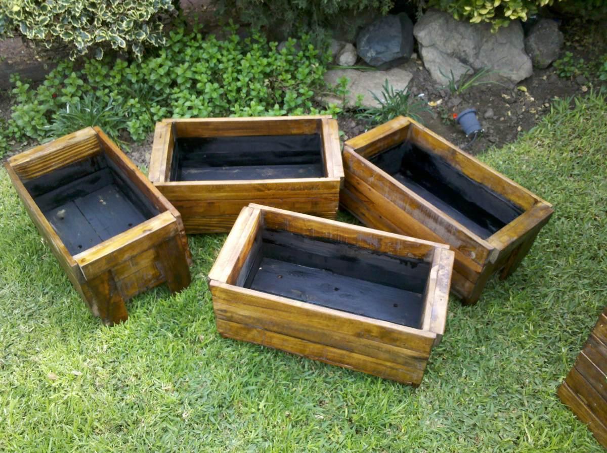 Macetas madera jardin pequeno macetas madera escaleras - Maceteros exterior baratos ...