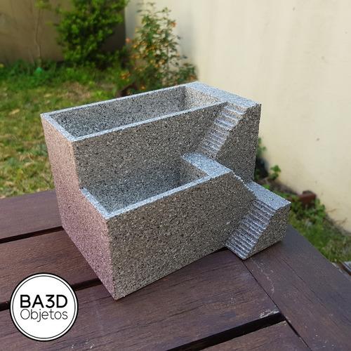 maceta escaleras ideal suculenta deco diseño impreso 3d