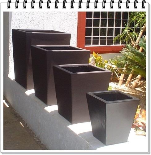 Maceta fibra vidrio trapecio obelisco minimalista 30x30x30 - Maceta fibra de vidrio ...