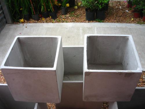 maceta fibrocemento cubo 20x20