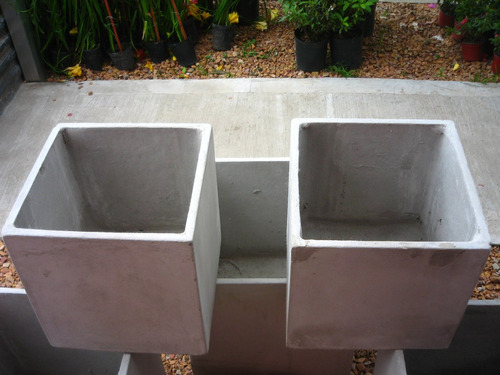 maceta fibrocemento cubo 35x35