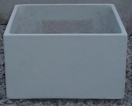 maceta fibrocemento cubo bajo 50x50x30