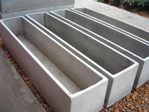 maceta fibrocemento jardinera 80x20x40 rectangular