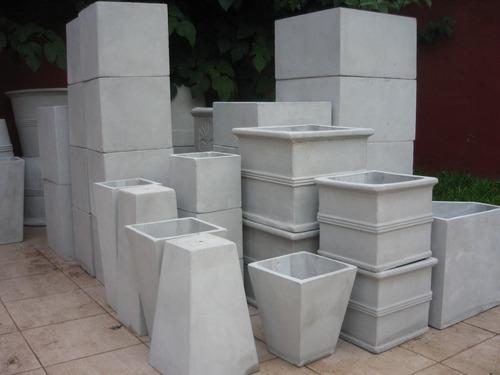 maceta fibrocemento prisma 20x10x10  rectangulo cubo