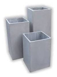 maceta fibrocemento prisma 60x15x15  rectangulo cubo