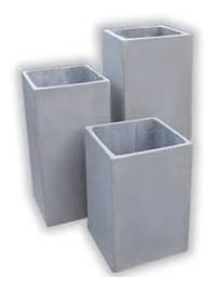 maceta fibrocemento prisma 80x30x30  rectangulo cubo