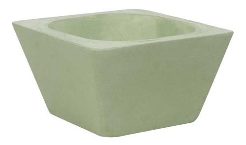 maceta gaia crexal cuadrada concreto minimalista verde