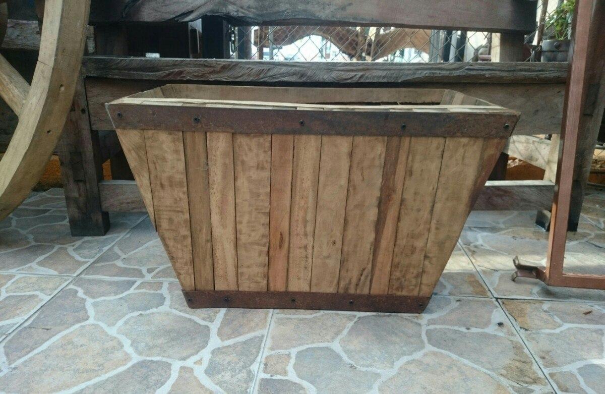 Maceta macetero o jardinera en madera estilo antiguo en mercado libre - Jardineras con palets de madera ...
