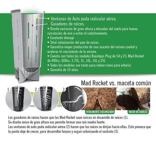 maceta mad rocket 16 litros cultivo indoor gabba grow olivos
