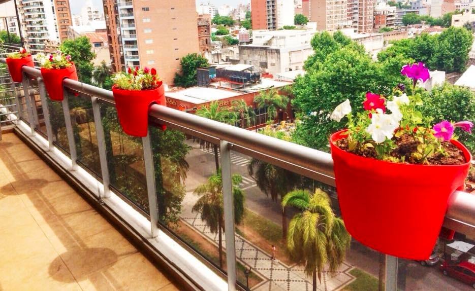 maceta para balcón no requiere soporte de fácil colocación - $ 240