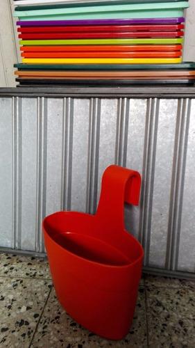 maceta para baranda de balcón colgante de 28x14 cm de boca