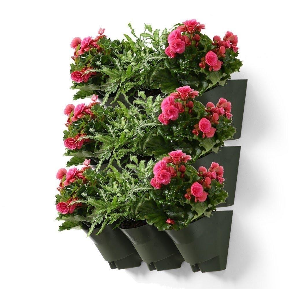 Maceta Plastica Apilable X 3 Modulos 9 Plantas Flor Cc 1 150 00