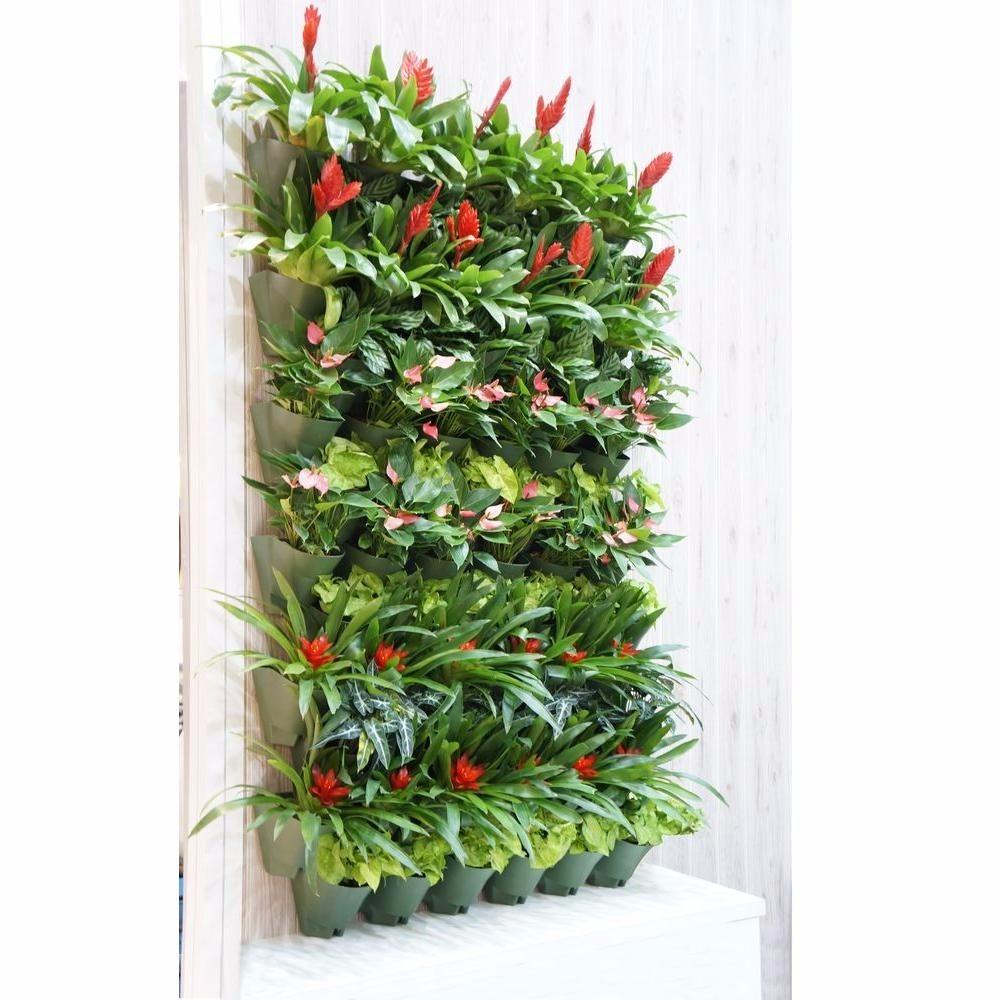 maceta plstica apilable x jardn vertical planta flor muro