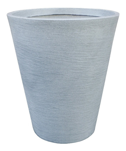 maceta plástica rotomoldeada moderna cono n 50 texturada