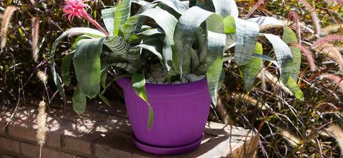 maceta redonda ibiza plastico 35cm jardin - garageimpo-