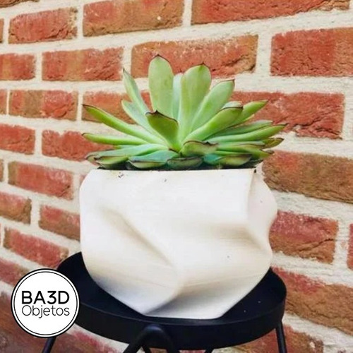 maceta retorcida plastico ideal suculenta cactus diseño