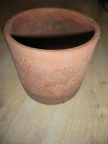 maceta roja ceramica