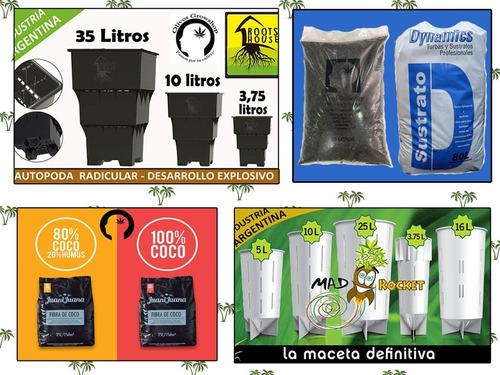 maceta soplada plastico negro 10 litros cultivo -olivos grow