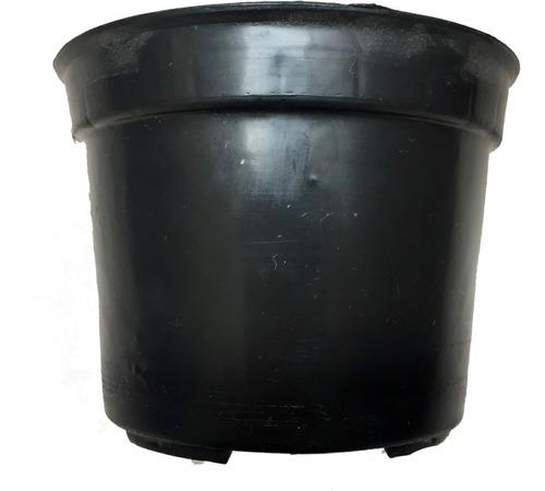 macetas 4 pulgadas rigida negra 300 maceteros