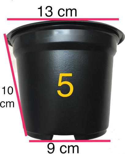 macetas 5 pulgadas negra matec 100 maceteros trc 1310