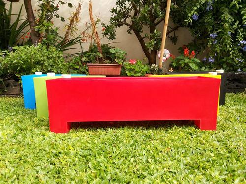 macetas autorriego 80 x 25 x 25cm de plástico