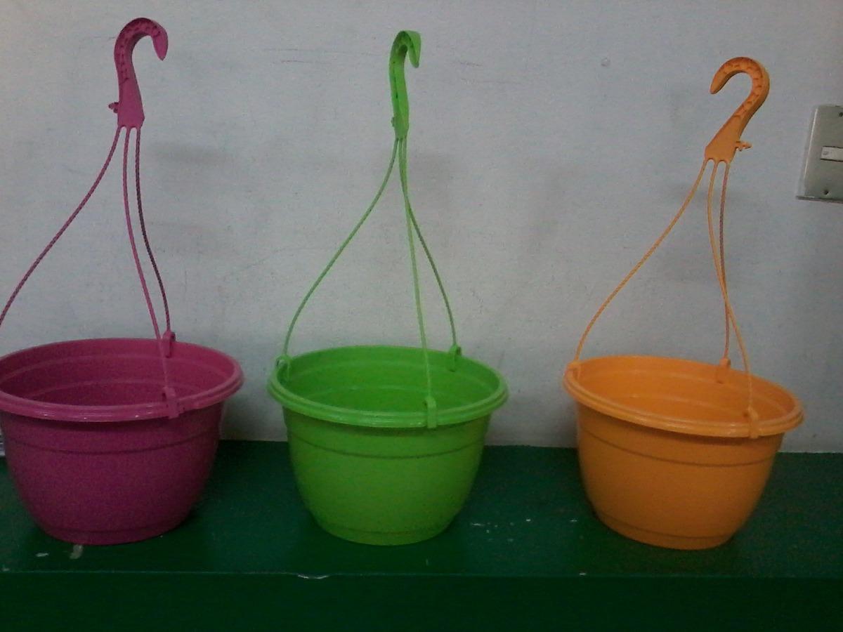 Macetas colgantes de plastico de colores n 20 s 20 00 - Macetas de plastico ...