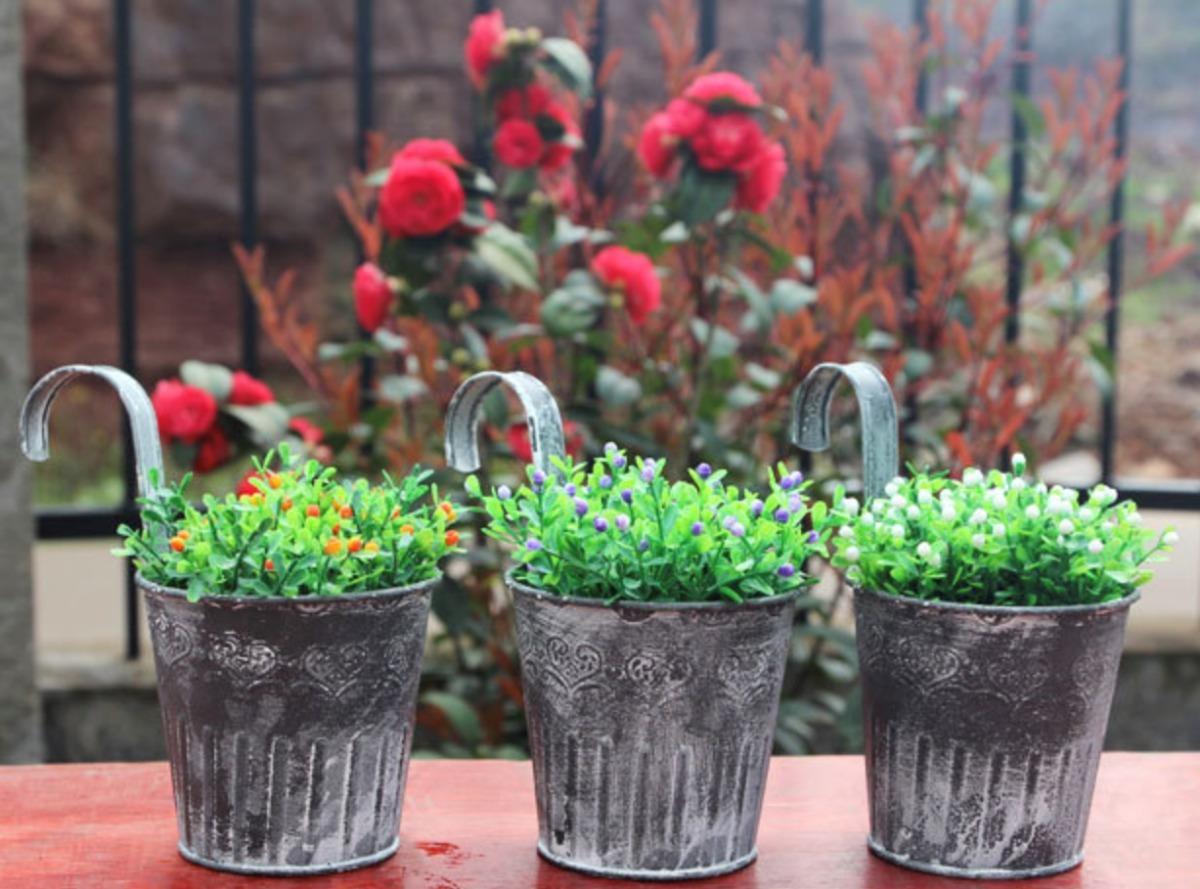 Macetas Para Terraza. Amazing Decoracin De Una Terraza Con Bamb En ...