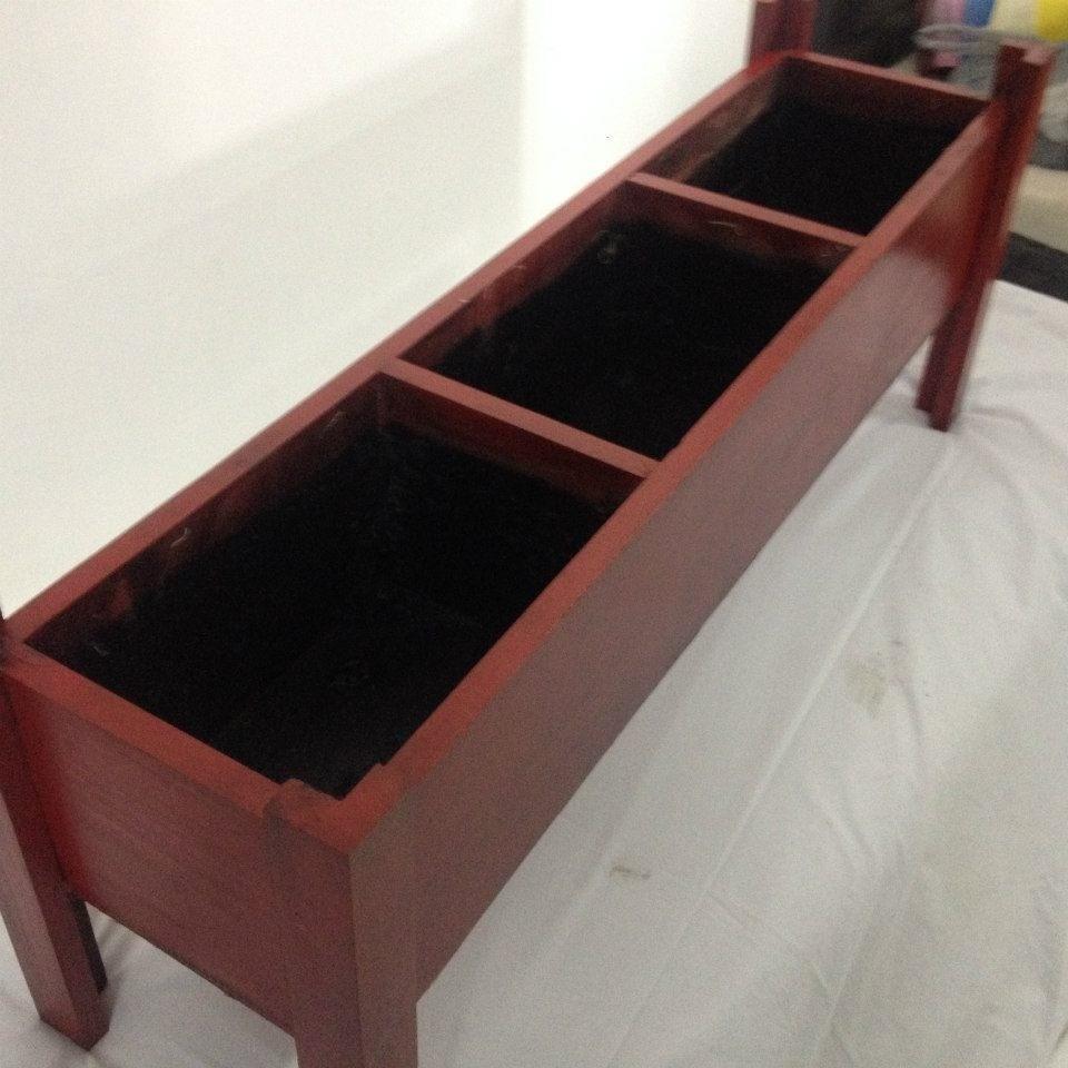 Macetas de madera en mercado libre for Maceteros de madera para interior
