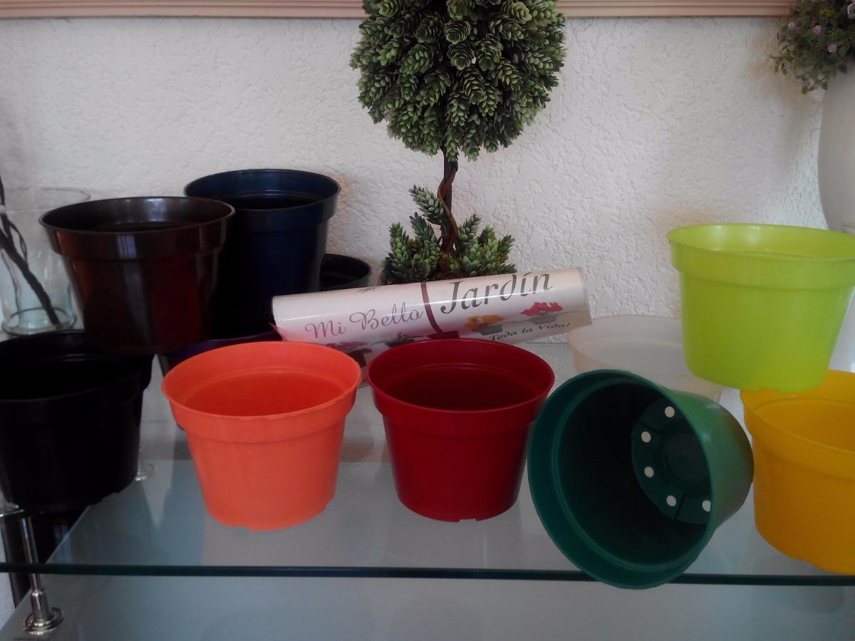 Macetas de pl stico de colores en mercado libre - Macetas de plastico ...