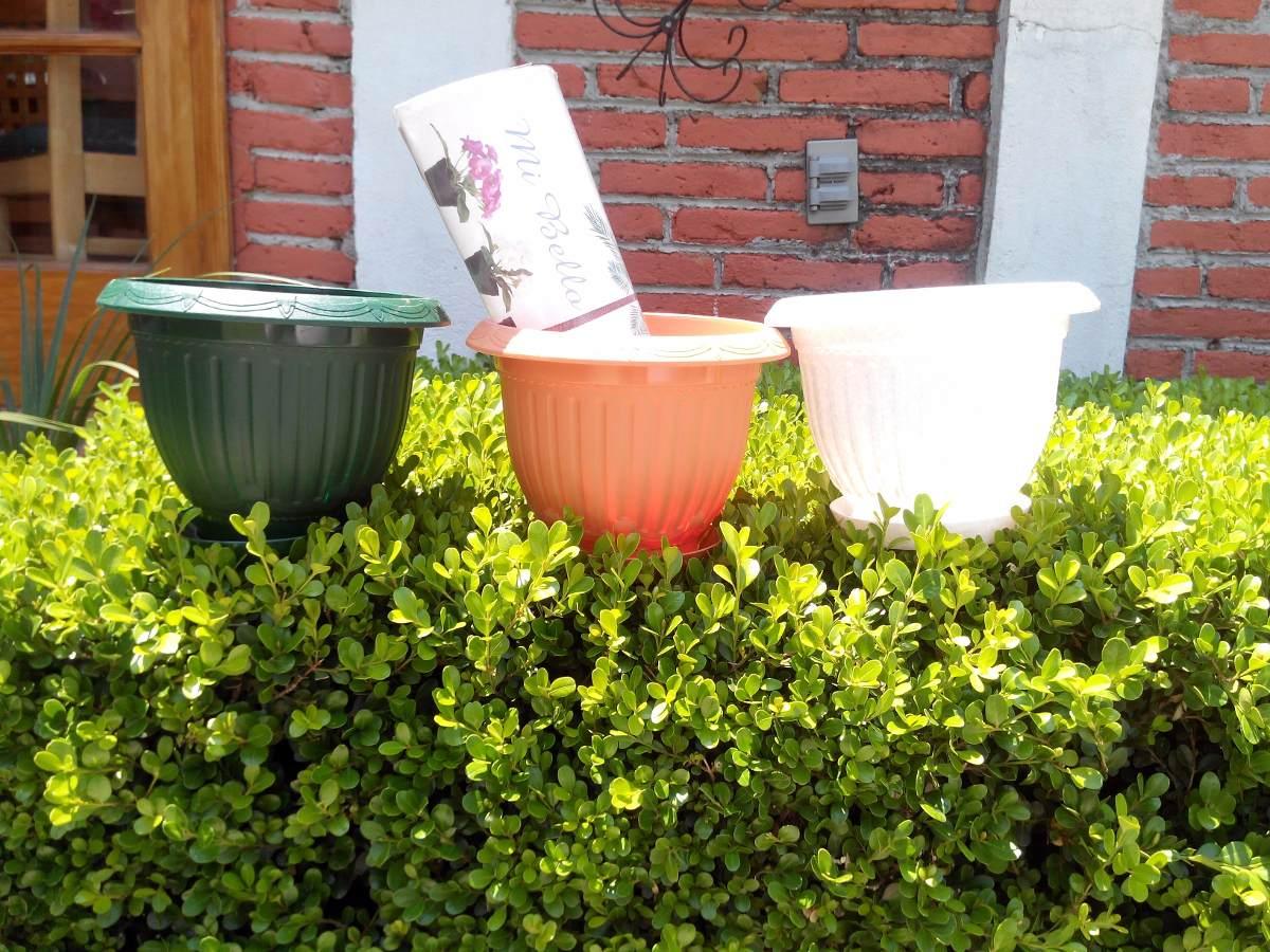 Macetas decorativas de plastico en mercado libre - Macetas de plastico ...