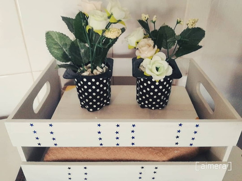macetas  decorativas, flores de tela.  detalles de amor