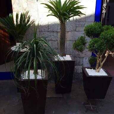 Macetas fibra de vidrio obelisco minimalista jardineras en mercado libre - Jardineras de fibra de vidrio ...