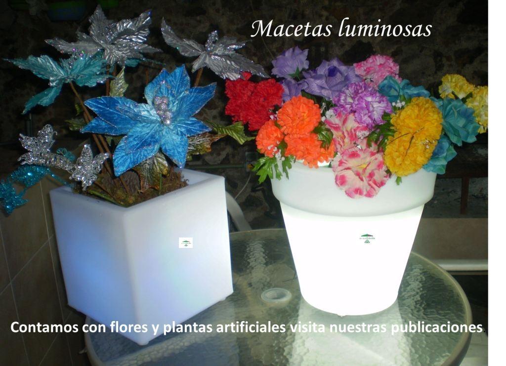 Macetas jardineras de luz led mdn 2 en mercado for Jardineras iluminadas