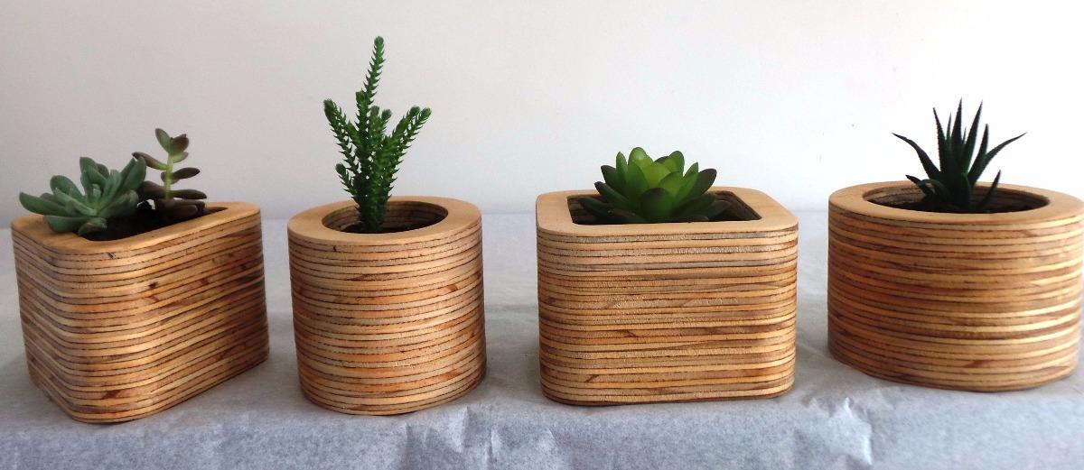 Macetas madera macetas de madera reciclada de pallet x - Soportes para macetas de interior ...