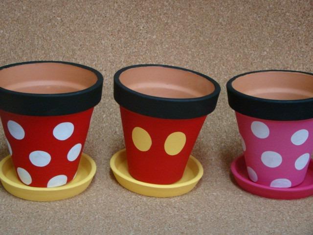 Macetas Mickey Mouse Y Minnie Mouse Recuerdos 42 00