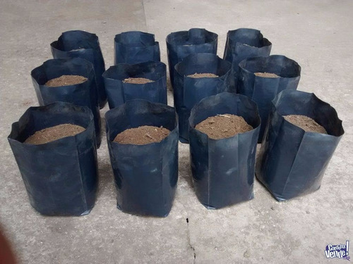 macetas nylon negras - 10 lts. - vivero agro jardín (x10u)