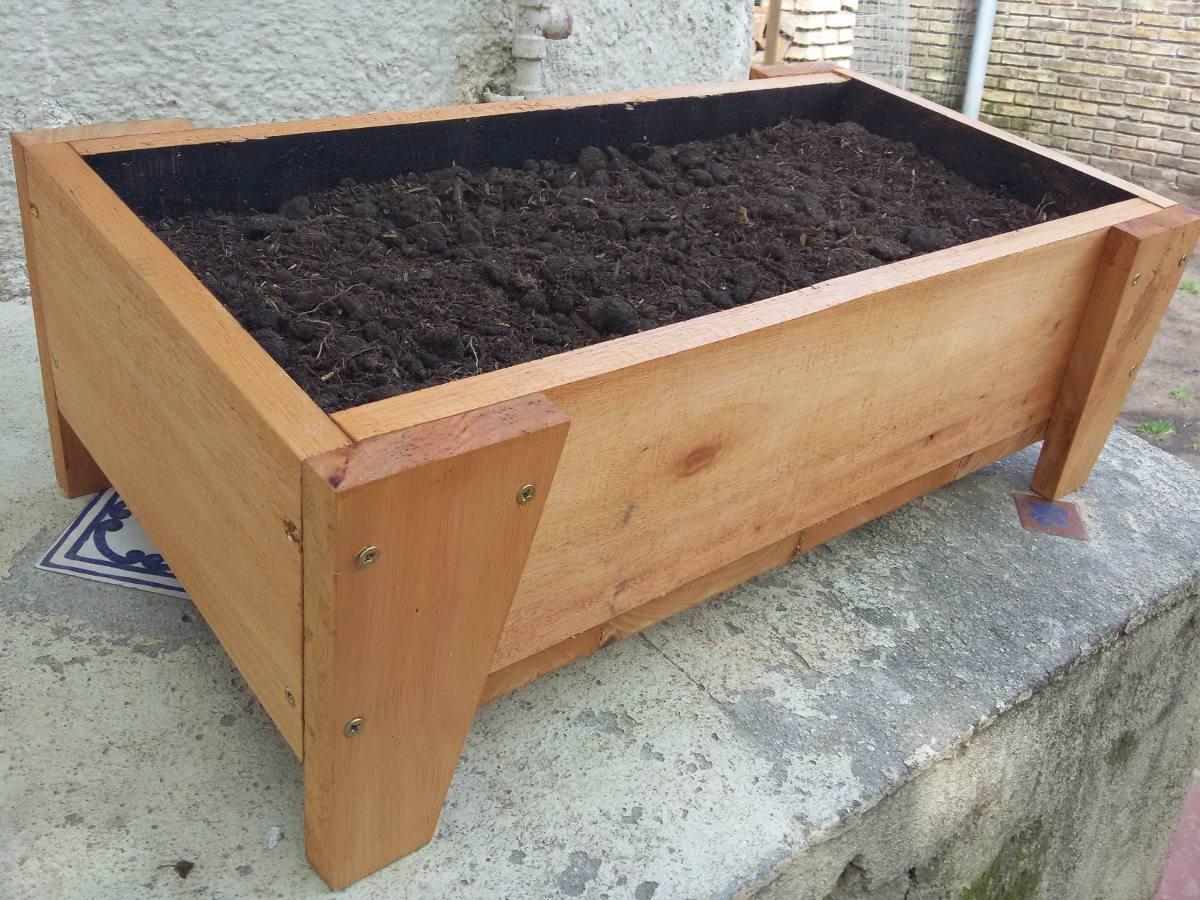 Macetas o huertas de madera org nicas en - Macetas de madera ...