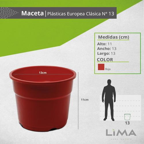 macetas plásticas europea clásica n 13 mayorista pack 100 ud