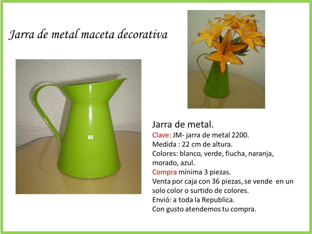 Macetas plastico y metal jarras lecheras regaderas mdn for Regaderas mercado libre
