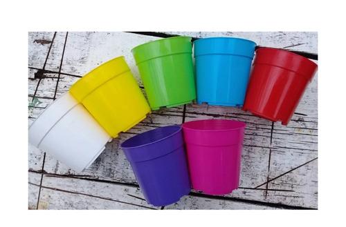 macetas redondas plastico nro 6 - souvenir - cactus colores!