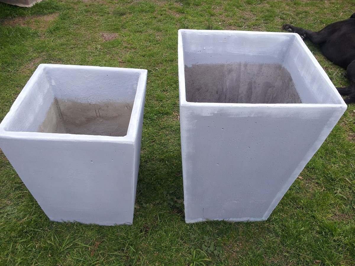 Macetas taca piramidales de hormigon para jardin e - Macetas para jardin exterior ...