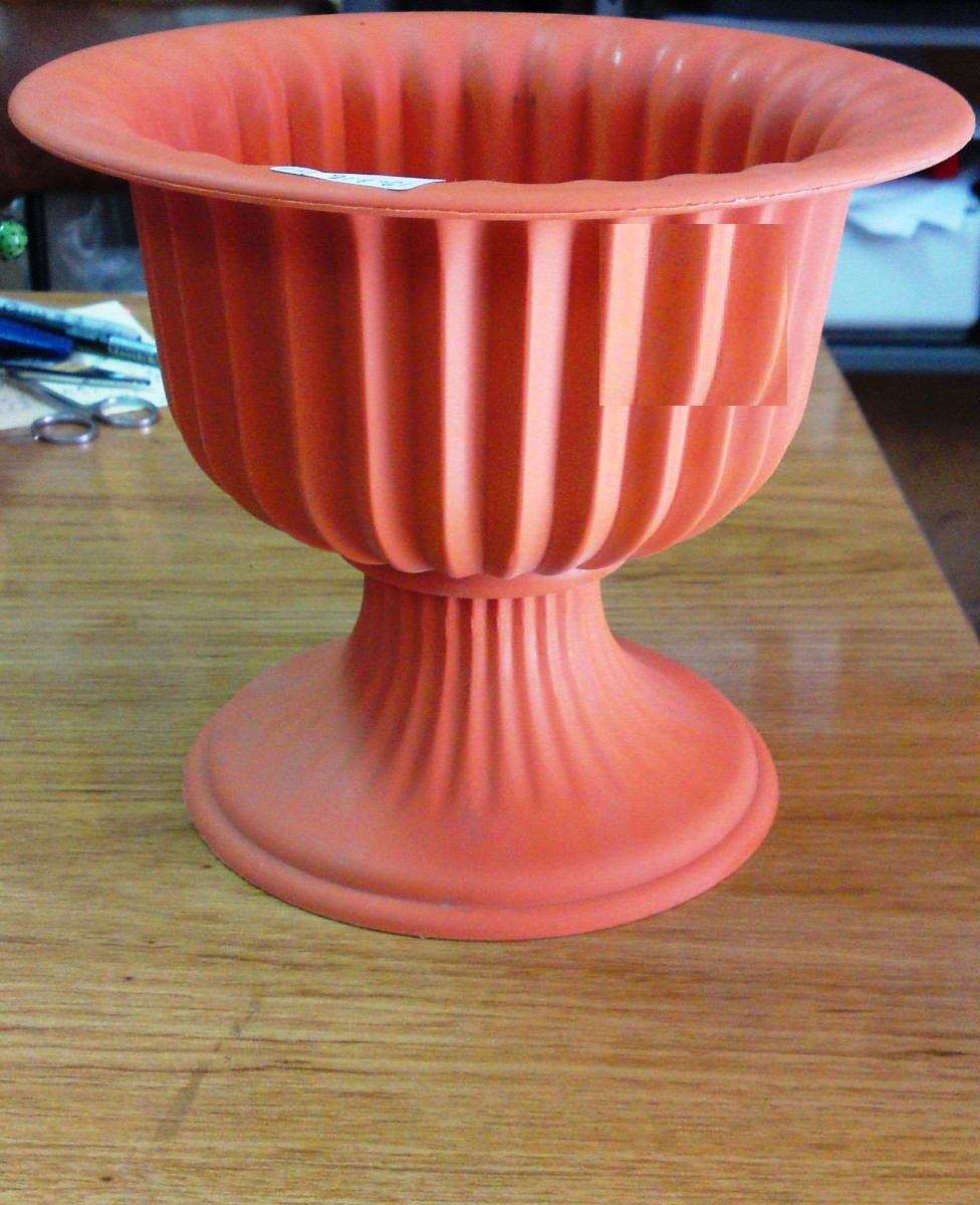 Macetas tipo copa de plastico plantas y flores pedestal en mercado libre - Pedestal para plantas ...