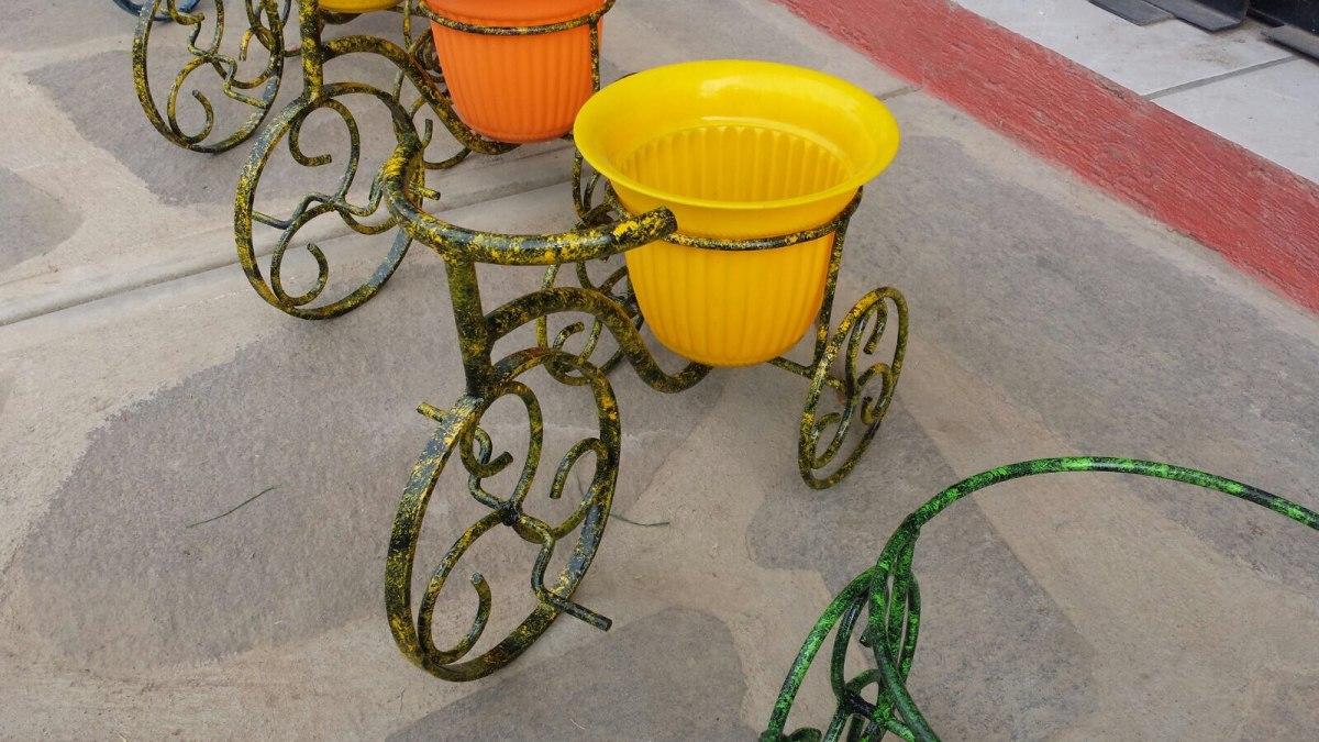 Macetero de bicicleta herrer a art stica en - Bicicleta macetero ...
