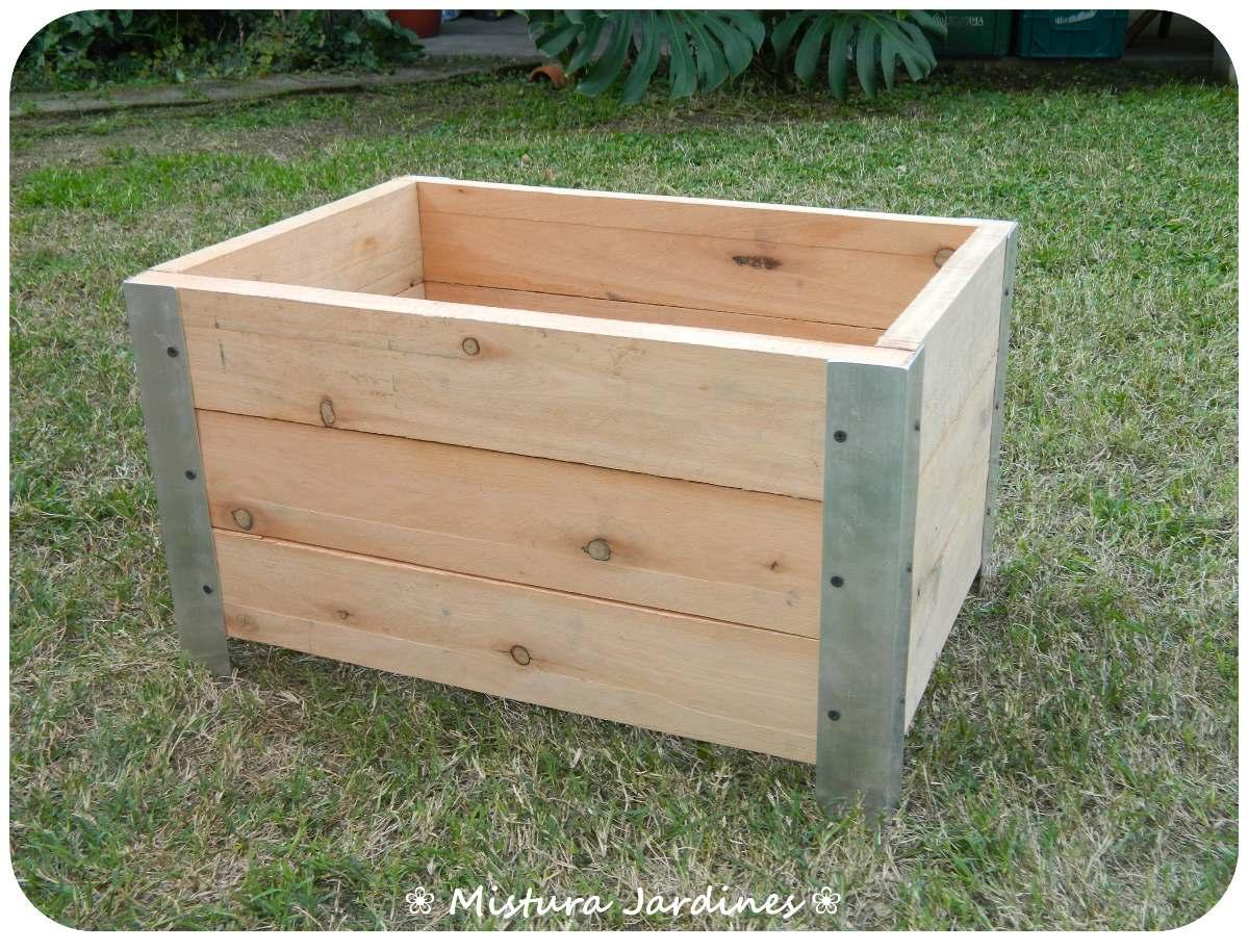 macetero de madera huerta modelo para jardn xxcm