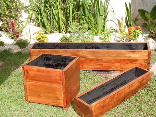 Macetero de madera para exterior o interior 500 00 en for Maceteros de madera para interior