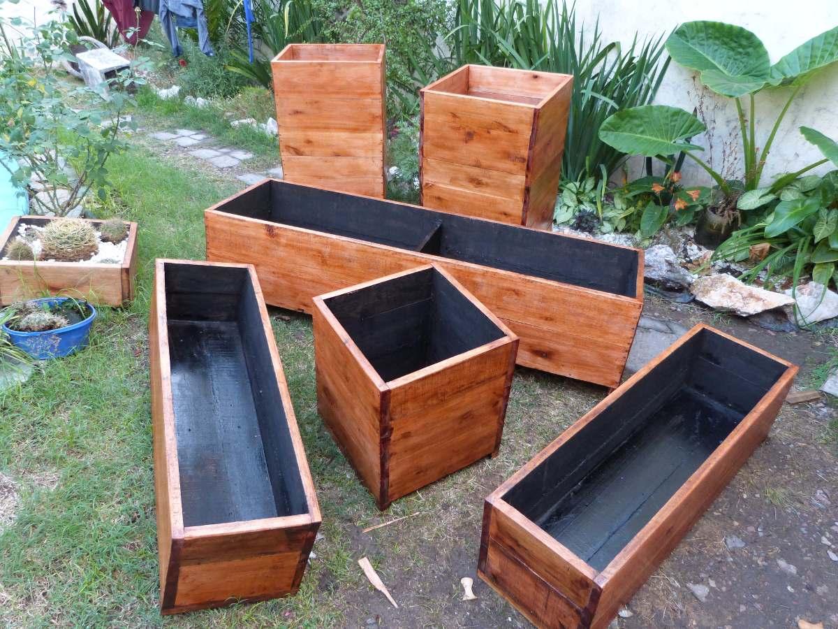 macetero de madera para exterior o interior