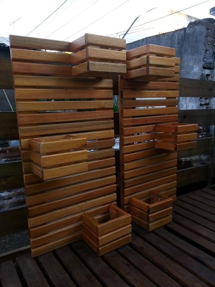 Macetero de madera madera artesanal estrucmader - Tipo de madera para exterior ...