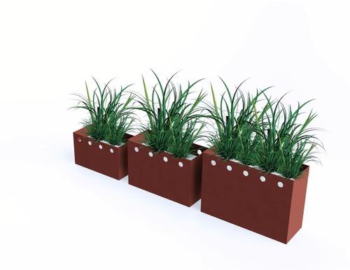macetero jardinera 3 piezas para macetas de jardin circulos